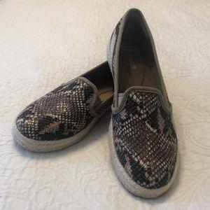 Clarks Snake Print Espadrille Sneakers 8.5
